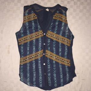 Tiny Anthropologie Sprigstitch Embroidered Top S